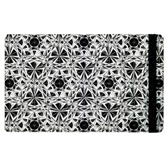 Star Crystal Black White 1 And 2 Apple Ipad 3/4 Flip Case by Cveti