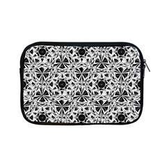 Star Crystal Black White 1 And 2 Apple Ipad Mini Zipper Cases by Cveti
