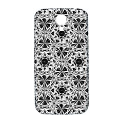 Star Crystal Black White 1 And 2 Samsung Galaxy S4 I9500/i9505  Hardshell Back Case by Cveti