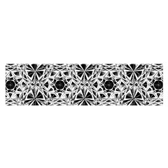 Star Crystal Black White 1 And 2 Satin Scarf (oblong) by Cveti
