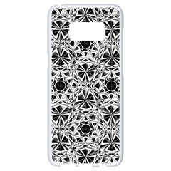 Star Crystal Black White 1 And 2 Samsung Galaxy S8 White Seamless Case by Cveti