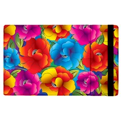 Neon Colored Floral Pattern Apple Ipad Pro 12 9   Flip Case by allthingseveryday