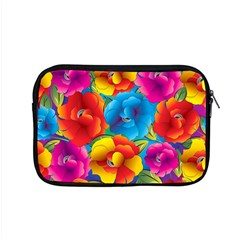 Neon Colored Floral Pattern Apple Macbook Pro 15  Zipper Case by allthingseveryday