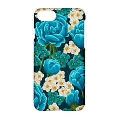 Light Blue Roses And Daisys Apple Iphone 8 Hardshell Case