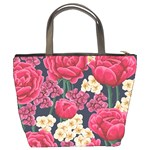 Pink Roses And Daisies Bucket Bags Back