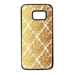 Vintage,gold,damask,floral,pattern,elegant,chic,beautiful,victorian,modern,trendy Samsung Galaxy S7 Black Seamless Case by 8fugoso