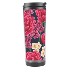 Pink Roses And Daisies Travel Tumbler by allthingseveryday