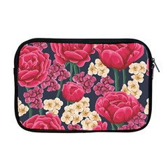 Pink Roses And Daisies Apple Macbook Pro 17  Zipper Case by allthingseveryday