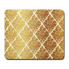 Vintage,gold,damask,floral,pattern,elegant,chic,beautiful,victorian,modern,trendy Large Mousepads by 8fugoso