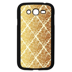 Vintage,gold,damask,floral,pattern,elegant,chic,beautiful,victorian,modern,trendy Samsung Galaxy Grand Duos I9082 Case (black) by 8fugoso
