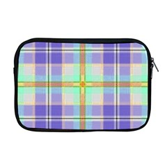 Blue And Yellow Plaid Apple Macbook Pro 17  Zipper Case by allthingseveryday