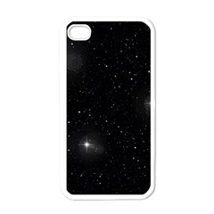 Starry Galaxy Night Black And White Stars Apple Iphone 4 Case (white) by yoursparklingshop