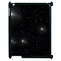 Starry Galaxy Night Black And White Stars Apple Ipad 2 Case (black) by yoursparklingshop