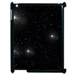 Starry Galaxy Night Black and White Stars Apple iPad 2 Case (Black) Front