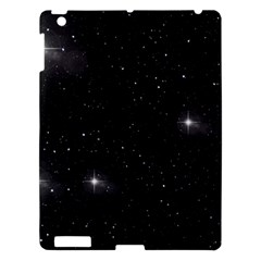 Starry Galaxy Night Black And White Stars Apple Ipad 3/4 Hardshell Case by yoursparklingshop