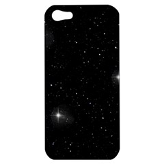 Starry Galaxy Night Black And White Stars Apple Iphone 5 Hardshell Case by yoursparklingshop