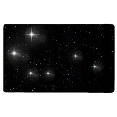 Starry Galaxy Night Black And White Stars Apple Ipad 2 Flip Case by yoursparklingshop