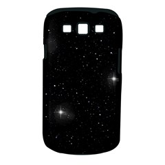 Starry Galaxy Night Black And White Stars Samsung Galaxy S Iii Classic Hardshell Case (pc+silicone) by yoursparklingshop