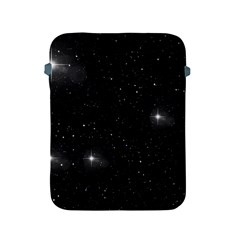 Starry Galaxy Night Black And White Stars Apple Ipad 2/3/4 Protective Soft Cases by yoursparklingshop