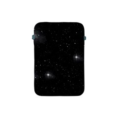 Starry Galaxy Night Black And White Stars Apple Ipad Mini Protective Soft Cases by yoursparklingshop