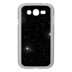Starry Galaxy Night Black And White Stars Samsung Galaxy Grand Duos I9082 Case (white) by yoursparklingshop