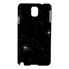 Starry Galaxy Night Black And White Stars Samsung Galaxy Note 3 N9005 Hardshell Case by yoursparklingshop