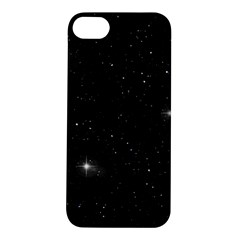 Starry Galaxy Night Black And White Stars Apple Iphone 5s/ Se Hardshell Case by yoursparklingshop