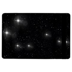 Starry Galaxy Night Black And White Stars Ipad Air 2 Flip by yoursparklingshop
