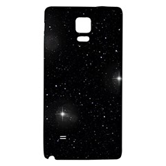 Starry Galaxy Night Black And White Stars Galaxy Note 4 Back Case by yoursparklingshop