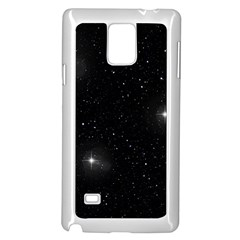 Starry Galaxy Night Black And White Stars Samsung Galaxy Note 4 Case (white) by yoursparklingshop