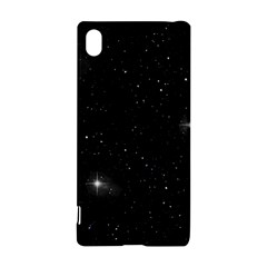 Starry Galaxy Night Black And White Stars Sony Xperia Z3+ by yoursparklingshop