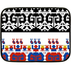 Bulgarian Folk Art Folk Art Double Sided Fleece Blanket (mini)  by Celenk