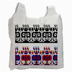 Bulgarian Folk Art Folk Art Recycle Bag (two Side)  by Celenk