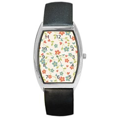 Abstract Art Background Colorful Barrel Style Metal Watch by Celenk