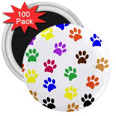 Pawprints Paw Prints Paw Animal 3  Magnets (100 Pack)
