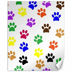 Pawprints Paw Prints Paw Animal Canvas 11  X 14
