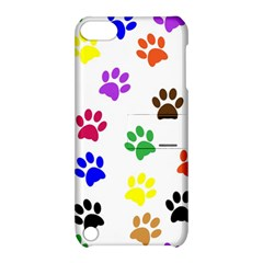 Pawprints Paw Prints Paw Animal Apple Ipod Touch 5 Hardshell Case With Stand by Celenk