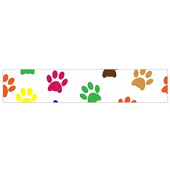 Pawprints Paw Prints Paw Animal Small Flano Scarf by Celenk