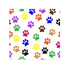 Pawprints Paw Prints Paw Animal Small Satin Scarf (square) by Celenk