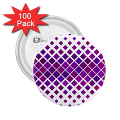 Pattern Square Purple Horizontal 2 25  Buttons (100 Pack)