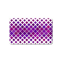 Pattern Square Purple Horizontal Magnet (name Card) by Celenk
