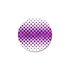 Pattern Square Purple Horizontal Golf Ball Marker by Celenk