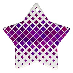 Pattern Square Purple Horizontal Star Ornament (two Sides) by Celenk