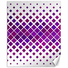 Pattern Square Purple Horizontal Canvas 16  X 20   by Celenk