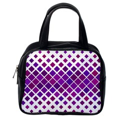 Pattern Square Purple Horizontal Classic Handbags (one Side)