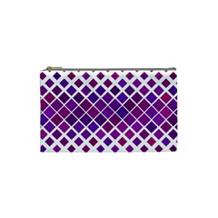 Pattern Square Purple Horizontal Cosmetic Bag (small)  by Celenk