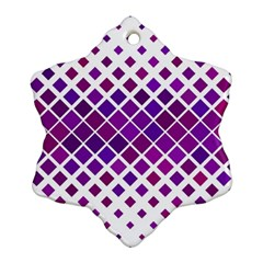 Pattern Square Purple Horizontal Snowflake Ornament (two Sides) by Celenk