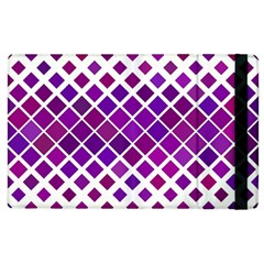 Pattern Square Purple Horizontal Apple Ipad 2 Flip Case by Celenk
