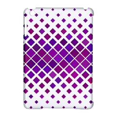 Pattern Square Purple Horizontal Apple Ipad Mini Hardshell Case (compatible With Smart Cover) by Celenk