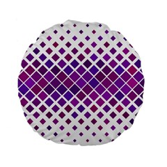 Pattern Square Purple Horizontal Standard 15  Premium Flano Round Cushions by Celenk